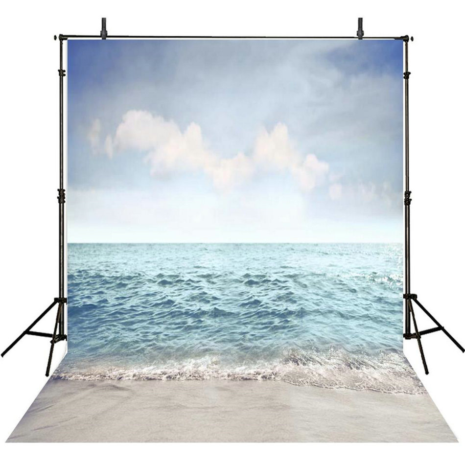 Sky Ocean Sea Beach White Cloud Photography Backgrounds Vinyl cloth High quality Computer print wall photo backdrop