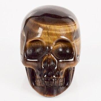 Natural Tiger Eye Carved Skull 1