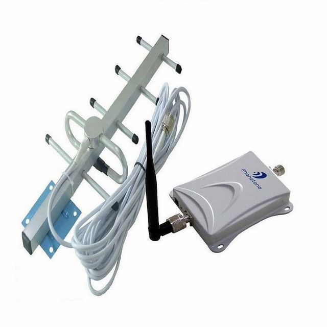 850Mhz CDMA Mobile Phone Signal Stronger Repeater Booster 3G Repeater Booster  White Cable Outdoor Yagi Antenna