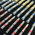 AUTO 50 unid Seal Termocontracción Conectores de Tope de Soldadura con Soldadura de La Manga Impermeable Conector Auto Automoción Hoja Fusible Au12