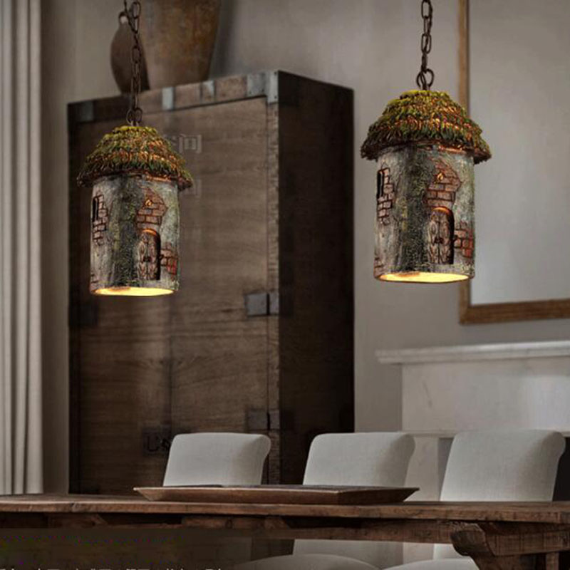 Vintage pendant lights Retro Tree House Hanging Lamp For Bar Kitchen ...