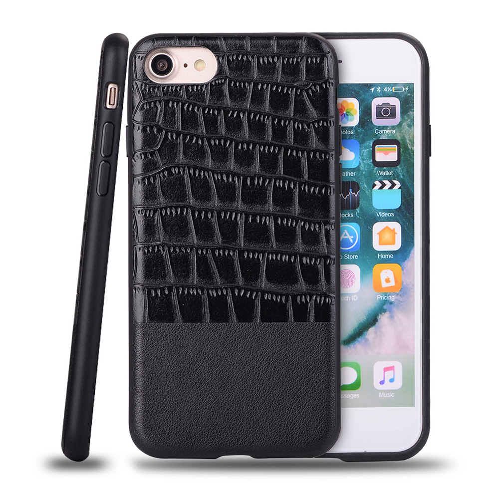 For Apple iPhone 7 Case 4.7 iP7 Cover for iPhone7 Luxury Retro Texture Quality PU Leather Back Cover TPU Mobile Phone Cases