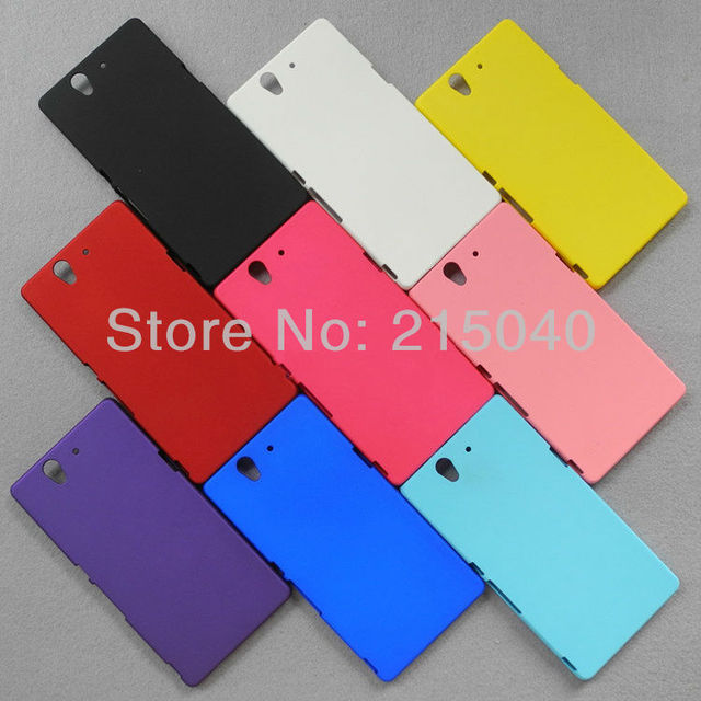 Free Shipping!! Hight Quality Rubber Matte Hard Back Case for Sony Xperia Z C6603 L36h Colorful Frosted Protect Cover, SON-001