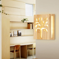 9W Minimalist LED Wall Lamp Bedroom Wall lamp Hallway Wooden lamp Bed light 85 240V Lamp Decorative Bedside Lights Home Lighting