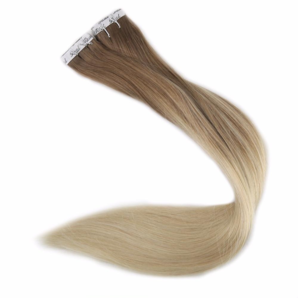 Full Shine Ombre Color # 2 darkest Brown- ը մարում է - Մարդու մազերը (սպիտակ) - Լուսանկար 5