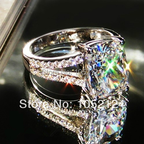 Luxury Quality 3 8carat Princess Cut Engagement Ring Wedding Anniversary Synthetic Diamond Rings For