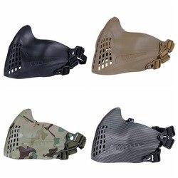 ยุทธวิธีป้องกันหน้ากากตาข่ายครึ่งหน้ากากสำหรับ Airsoft การล่าสัตว์ยิงหน้ากากพรรค Prop CS ที่มีสีส...