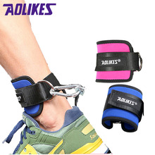 AOLIKES 1PCS Fitness Adjustable D-Ring Ankle Straps Foot Support Ankle Protector Gym Leg Pullery with Buckle Sports Feet Guard cheap A-7129 SBR Nylon Steel ring