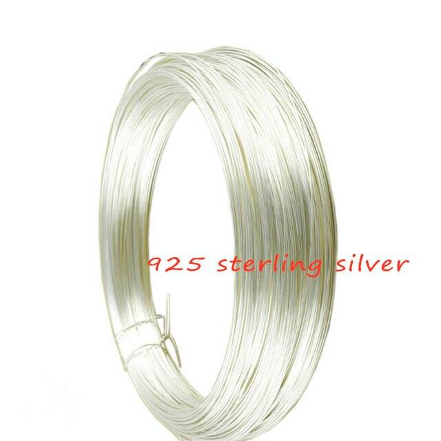 0,3mm 0,4mm 0,5mm Dia 1 Meter/beutel Solide 925 Sterling Silber Draht Perlen Bespannen Schmuck Gewinde Filament Stecker Zubehör GroßE Sorten