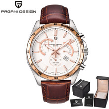 2016 Sport Military Watches Men Casual Classic Quartz Waterproof Genuine Leather Watch Wristwatch De Luxe Brand PAGANI DESIGN