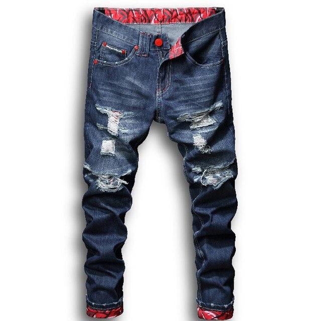 8a446566aacfa 2019 новые молодежные мужские модные повседневные Стрейчевые узкие джинсы  классические брюки, джинсовые штаны мужские джинсы