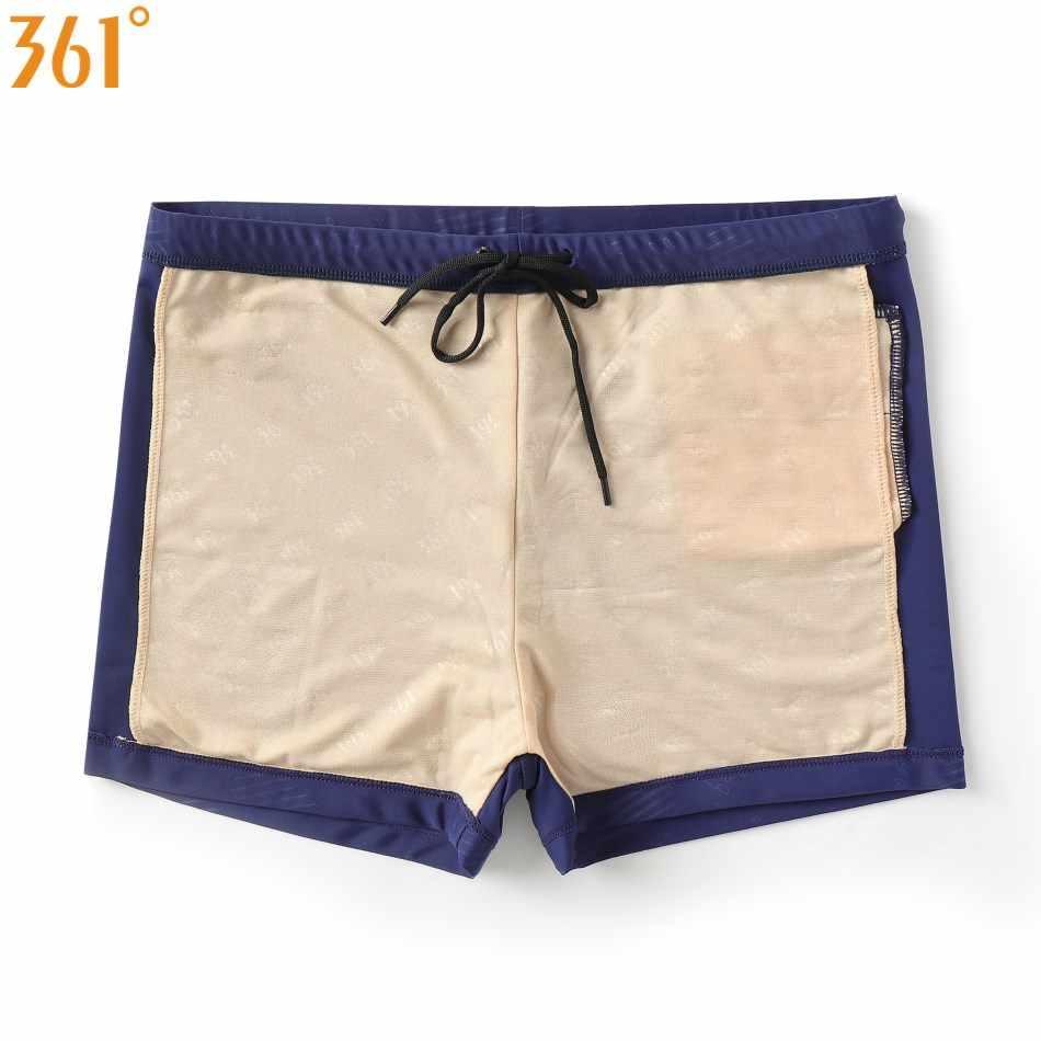 361 Men Swimwear Chlorine Resistant Swimming Trunks for Pool Athletic Swim Shorts Men Boy Swimsuit Boxer Swim Brief Jammer