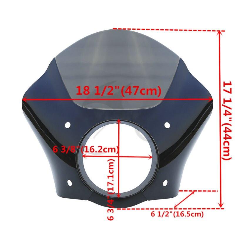 黒煙ガントレットヘッドライトフェアリング用フェアリング % 2 スポーツスター XL ストリート XG 500 750  グループ上の 自動車 &バイク からの カバー & オーナメント作り の中 2