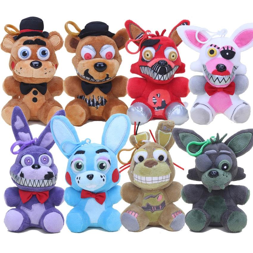 14-15cm Five Nights At Freddy's 5 FNAF Plush Toys Nightmare Freddy foxy Bonnie Soft Stuffed Dolls Kids Gift