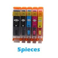 5pcs PGI 550 CLI 551 Full Refillable Ink Cartridge For Canon 550 IP7250 MG5450 MX925 MG5550