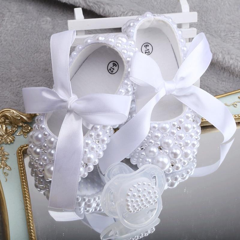 Pearl Baptismal Shoe Set