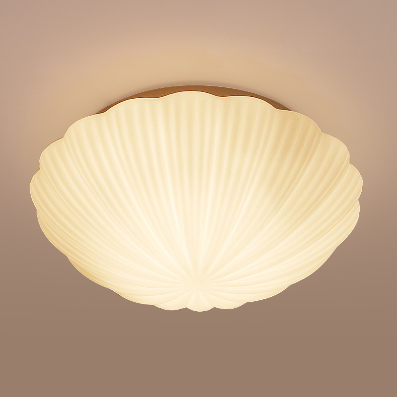Modern brief Personalized shell ceiling light fixture Home deco romantic child bedroom glass E27 bulb ceiling lamp