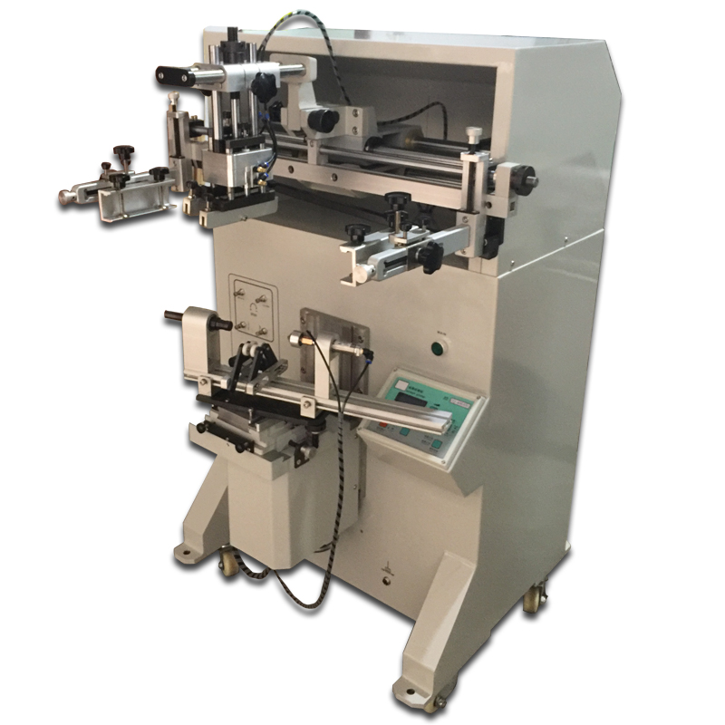 Single Color Bottle Label Automatic Flat/ Cylindrical Screen Printing Machine