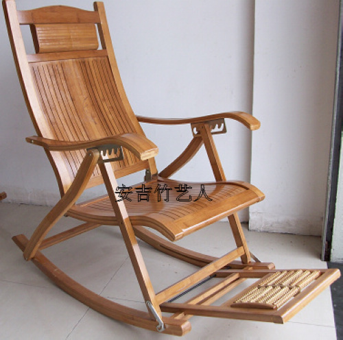 Factory Direct Fine Carbonized Bamboo Swing Chair Rocking