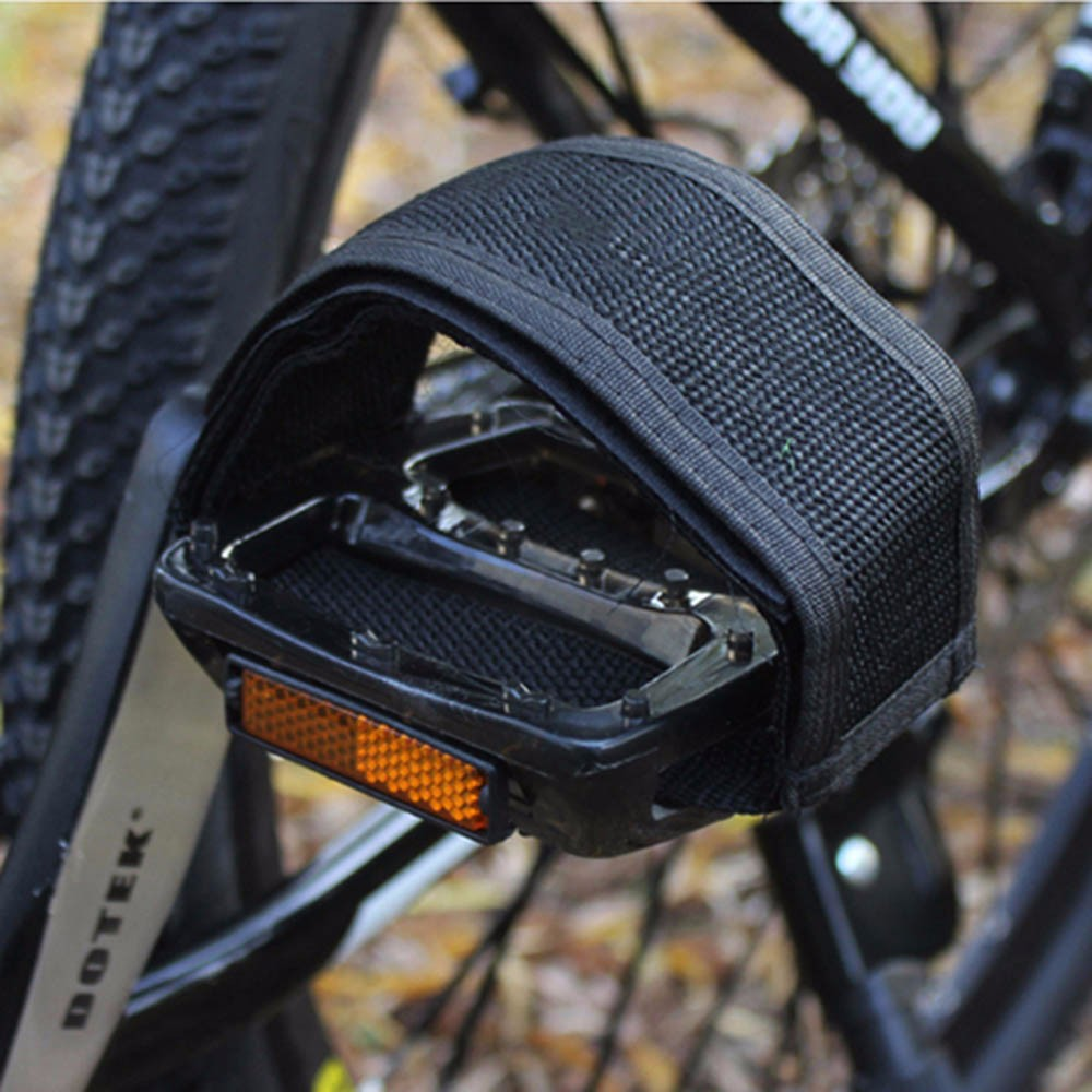 Pair Cycling Bicycle Gear Bike Foot Pedal Straps Belt Fixed Anti-slip Toe