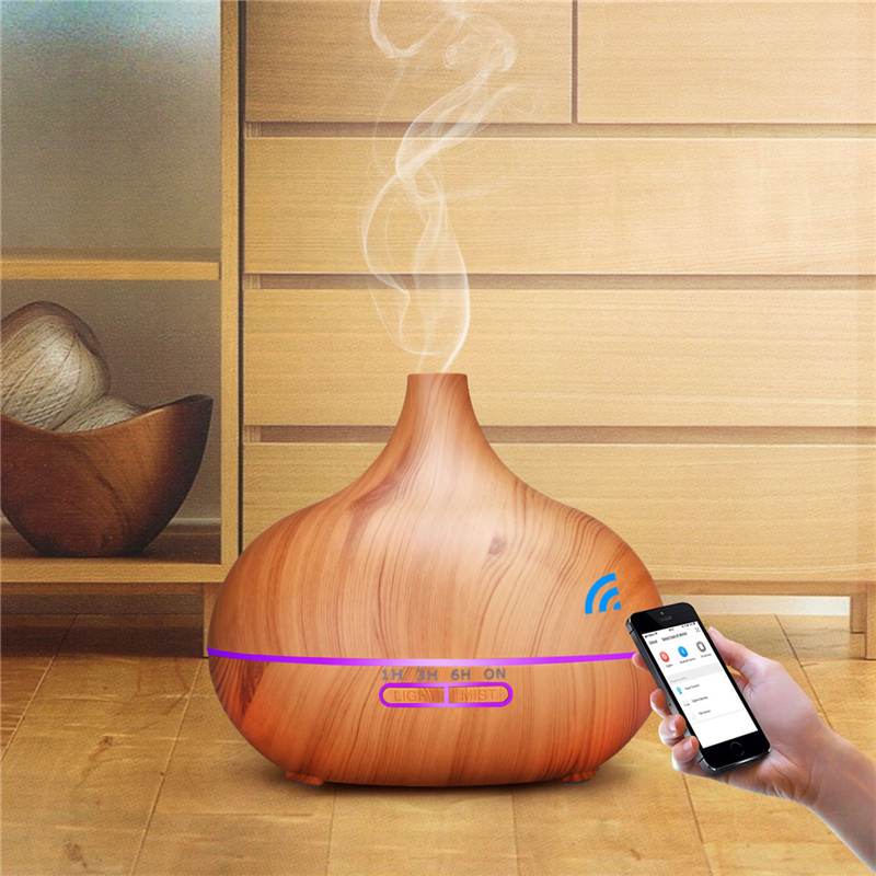 WiFi Smart Ultrasonic Humidifier Office Essential Oil Aroma Diffuser Warm Mist Maker Bedroom Air Purifier With 550ml Capacity 0