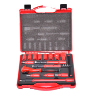 16PCS 1000V VDE insulated tools 3/8 ratchets wrench Sockets Sets T Handle Extensions Hex Bits Sockets Resistant to high voltage