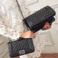 Luxury Brand Women Handbag Diamond Lattice Chain Bag Women Messenger Bags Female Small Crossbody Shoulder Channels 8805