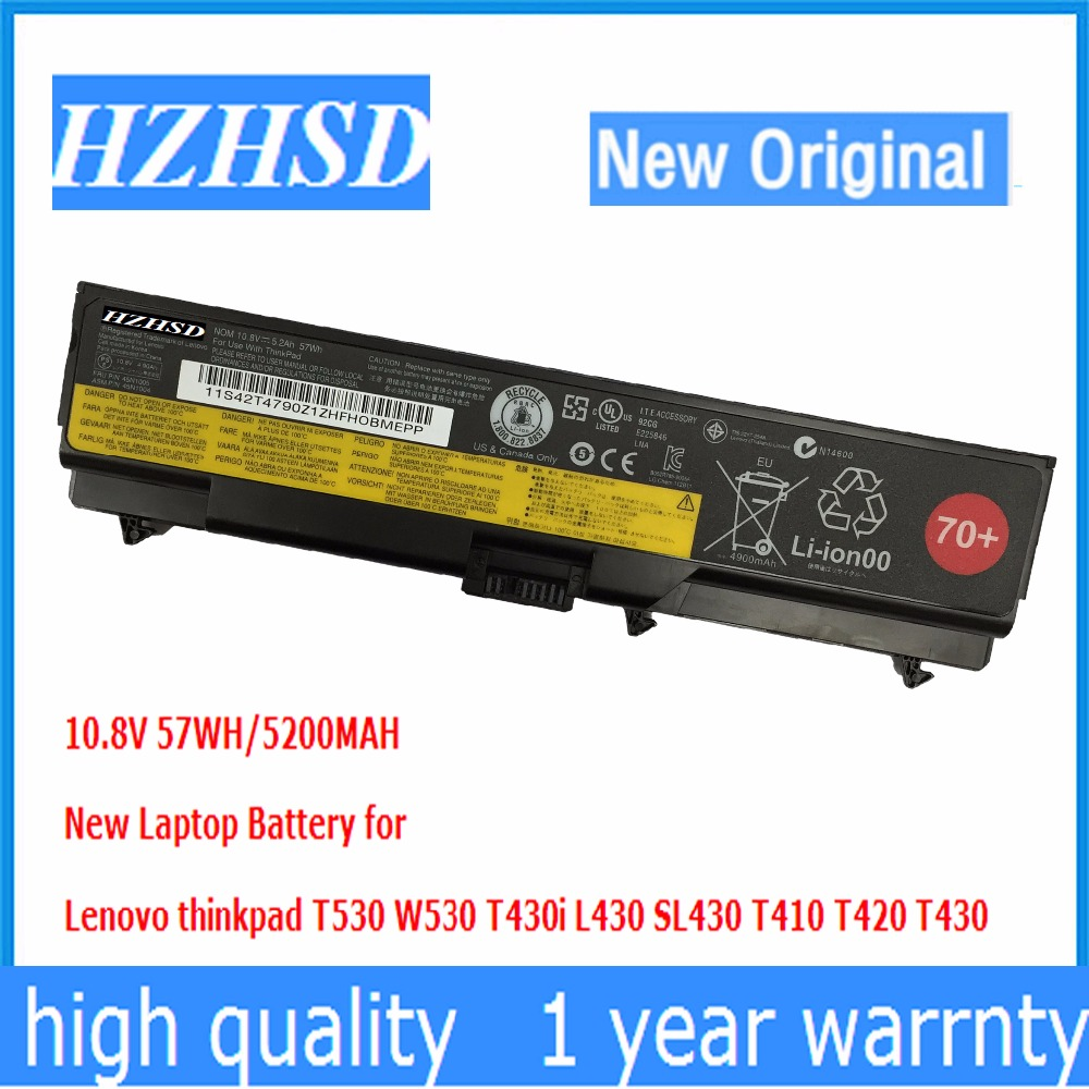 10.8v 57wh New Original T430 Laptop Battery for Lenovo thinkpad T530 W530 T430i L430 530 SL430 T410 T420 45n1005 45n1004