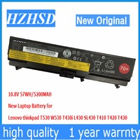 10.8v 57wh New Original T430 Laptop Battery for Lenovo thinkpad T530 W530 T430i L430 530 SL430 T410 T420 45n1005 45n1004