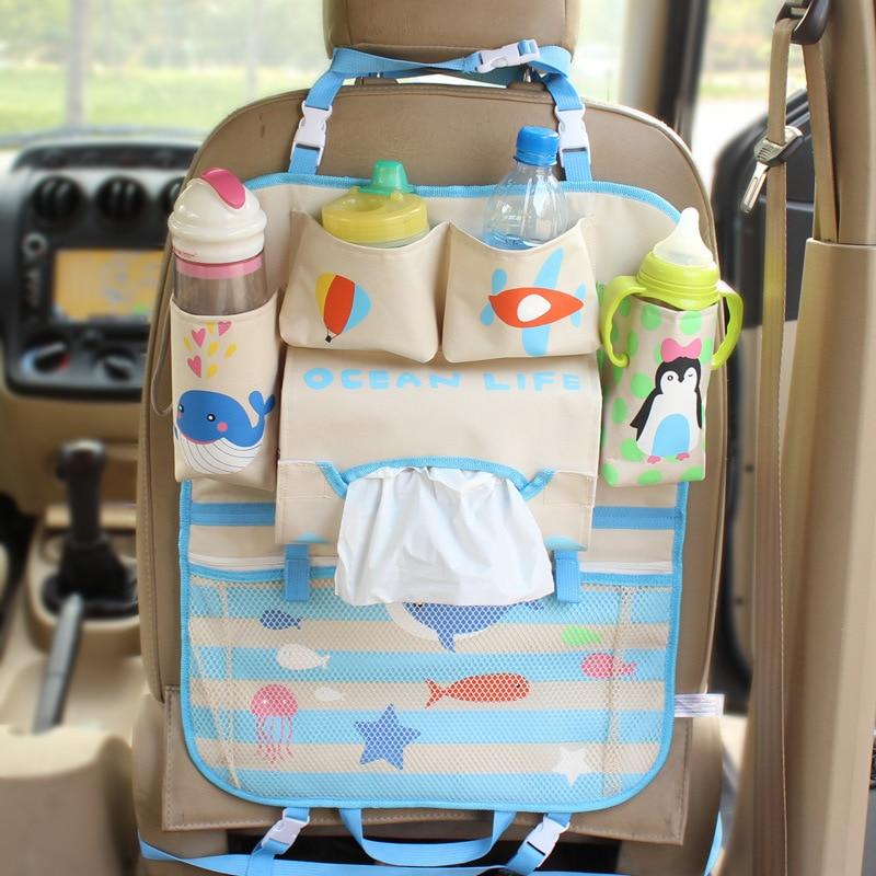 New Mummy Bags Lovely Cartoon Styling Hanging Bag High Quality Car Seat Organizer Rangement Holder Multi-Pocket Travel Storage auto back seat organizer bags assorted