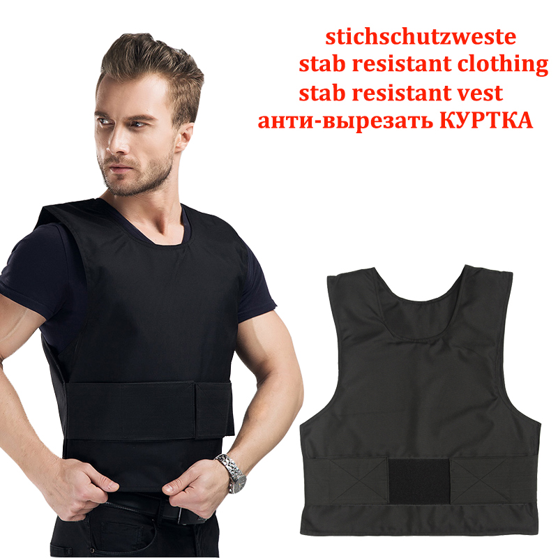 2 Layer Stab Resistant Vest Lightweight Soft For Police Use O-Neck Covert Schutzweste Tatico Self-Defense Anti Stab Covert Vest