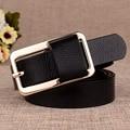 Nuevo diseño de la vendimia mujeres del diamante hebilla elástico ancha de la cintura elástico de LA PU de cuero correa de la manera correa de las mujeres