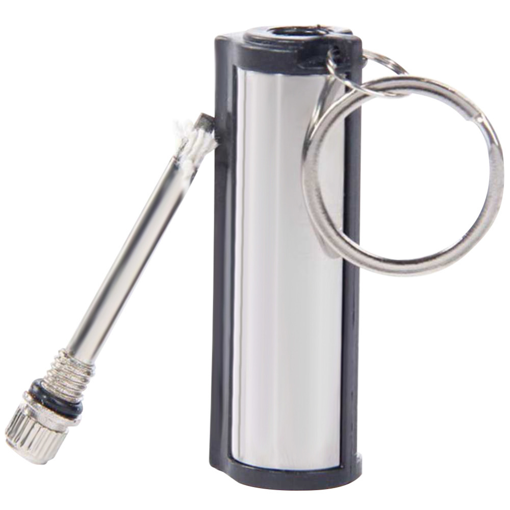 Waterproof Permanent Matches Striker Rectangular Flint Stone Cigarette Lighters Key Chain Instant Emergency Fire Starter