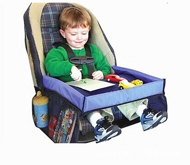 Baby Stroller Feeding Dining Table With Storage Bag Kid Waterproof Play Snack Tray Table Convenient Stroller Accessories Product