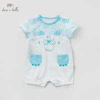 Dave bella new born baby romper infant toddler summer 100% cotton onesies boys short sleeves clothes kids jumpsuit DBH10781 1