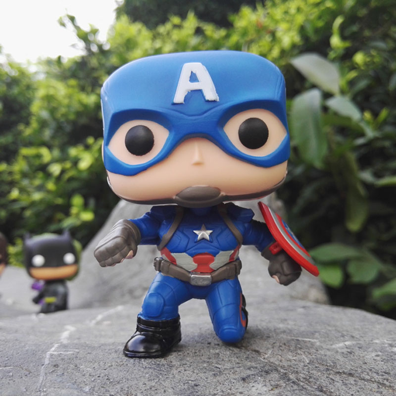 New arrival FUNKO POP Captain America 3 Civil War NO 137 Squat Captain 10cm PVC Action