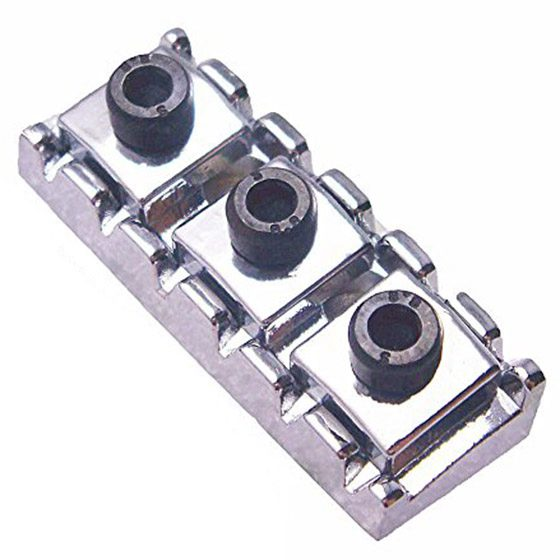 5 PCS of (Electric Guitar String Locking Nut For Floyd Rose Tremolo Bridge 42.2mm Silver)