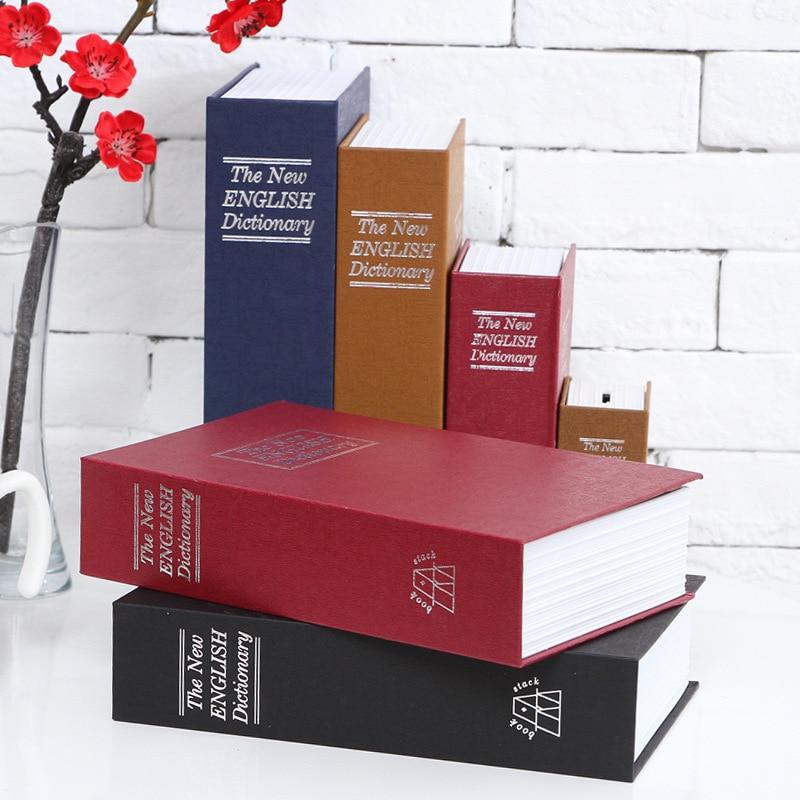 Book Safes Metal Steel Cash Secure Hidden English Dictionary Booksafe Homesafe Money Box Coin Storage Secret Piggy Bank Size M