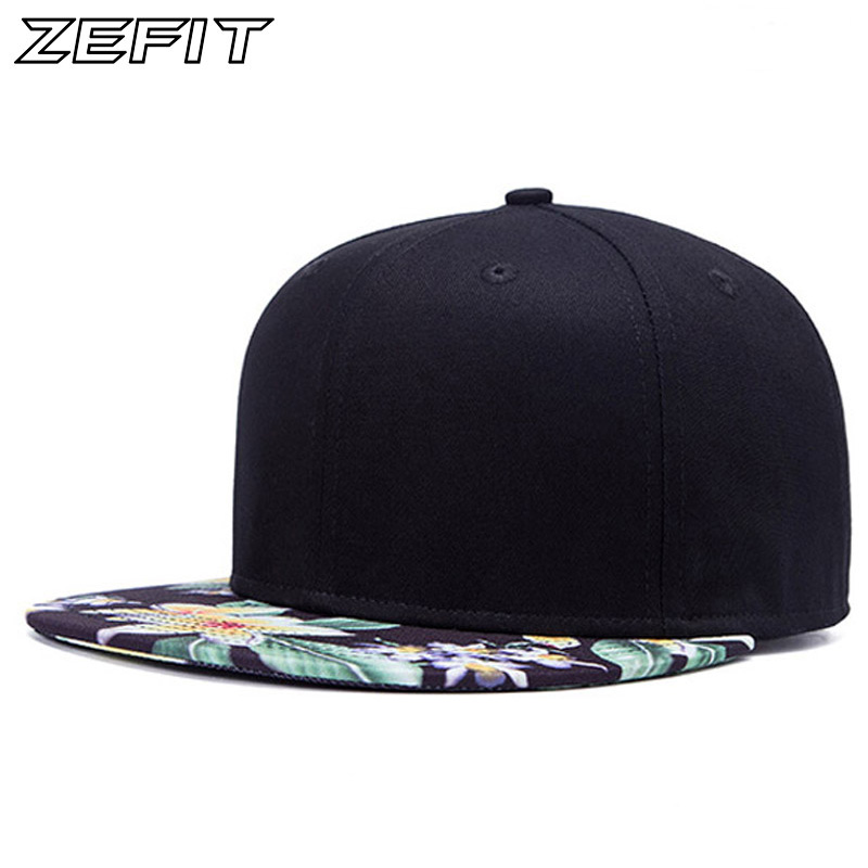 Real Pictures 2017 NEW popular good quality snap back baseball cap men fashion women hat flat Flower brimhip hop snapback cap