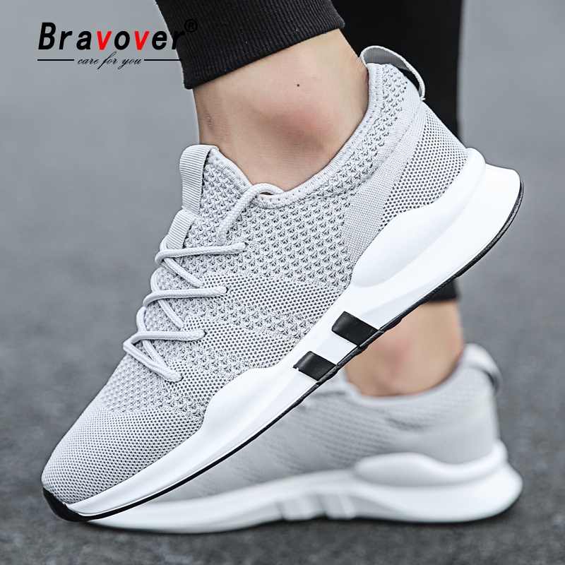 Bravover New Men s Outdoor Running Shoes Breathable Male Sneakers Adult Non slip Comfortable Mesh Athletic