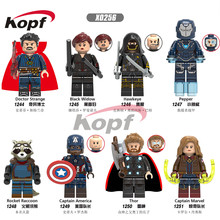 Avengers 4 Endgame Super Heroes Doctor Strange Thor Captain American Building Blocks Figures Legoings(China)