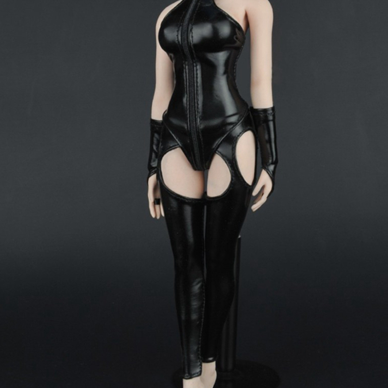ZY16-15 1/6 Female Clothing Women's Underwear Leather Corset Leather Lingerie for 12 Phicen Collectible Action Figure Doll DIY 1 6 women scale action figures silver imitation leather glittered female clothing suit body underwear shorts set fit 12 phicen