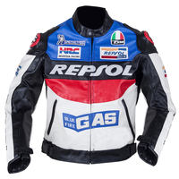 Freeshipping Motorcross Jackets Repsol Motorbike Racing Jackets PU Leather Orange Blue Color S XXL J1F