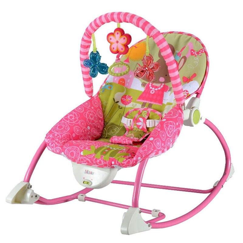 Portable Musique Électrique Bébé Chaise Berçante Enfant Toddler Berceau À Bascule Chaise Transat Balançoire Pour Bébé Chaise Salon Inclinable