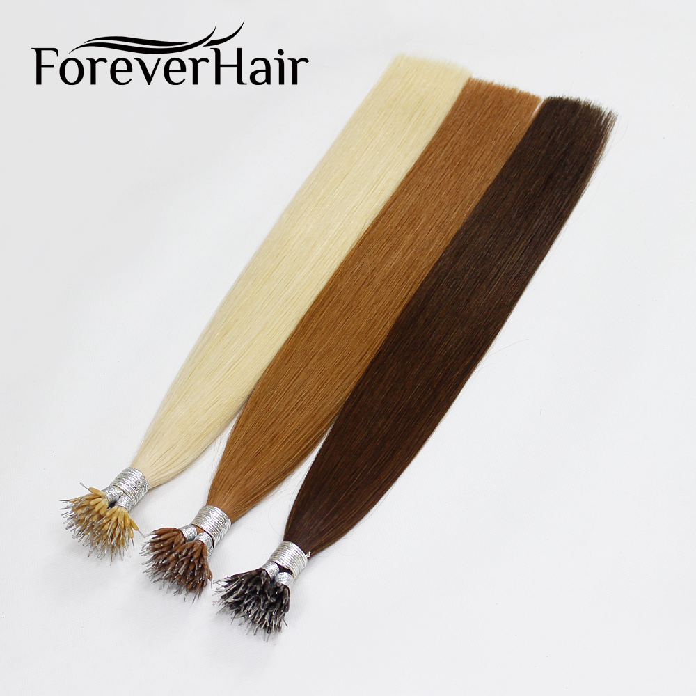 FOREVER HAIR European Straight Keratin Micro Beads Matu 0.8g / s 16 - Cilvēka mati (baltajiem) - Foto 4