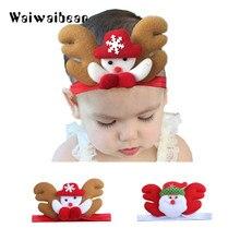 цена Hot children kids Baby girls Headband Christmas Santa Claus Headwear Hair Band Head Piece Accessories онлайн в 2017 году