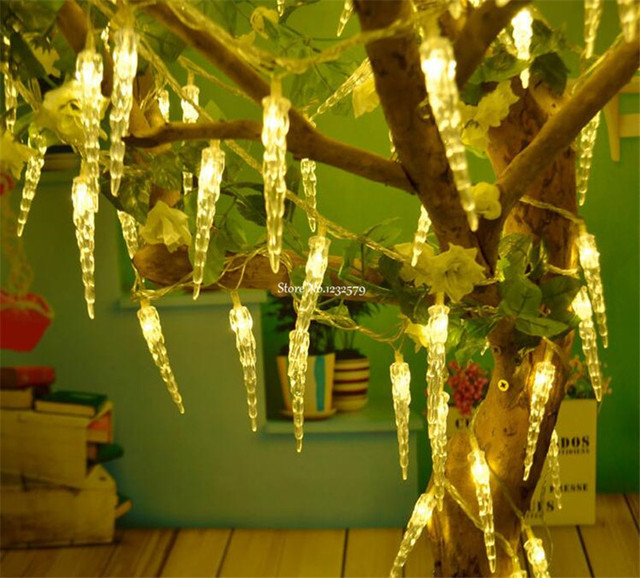 2m 6 5ft 20 led fairy light battery operated icicle led christmas