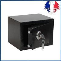 Прочное качество прочный железный Сталь черный приводимый в действие ключом безопасности деньги Сейф для наличности коробка Офис Дом Ново...
