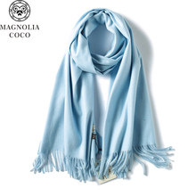 089388b5807c0 2017 Women Solid Color Cashmere Scarves Tassel lady Winter Thick Warm Scarf  Luxury Brand Scarf Pashmina