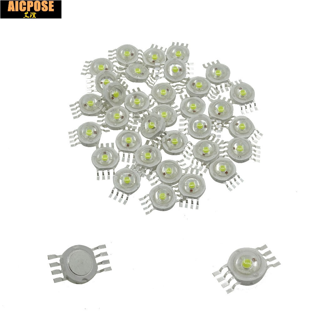 100pcs/lots 12W RGBW 4IN1 Led Lamp Beads Stage Lighting Special LED Light Bead For 7x12w 12x12w 18x12w 24x12w Led Par Lights